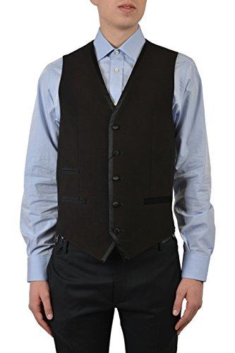Dolce & Gabbana Silk Black Tuxedo Style Men's Vest US 38 IT 48 (Dolce Gabbana Tuxedo &)