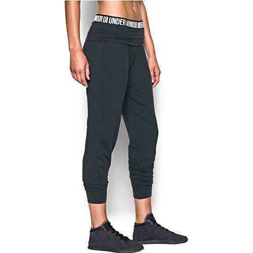 Under Armour Women's Downtown Knit Pant, Anthracite (016)/Tonal, Medium