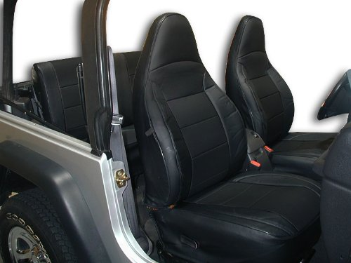 Pleasing Iggee Jeep Wrangler 1997 2002 Black Grey Artificial Leather Custom Fit Front And Rear Seat Cover Lamtechconsult Wood Chair Design Ideas Lamtechconsultcom