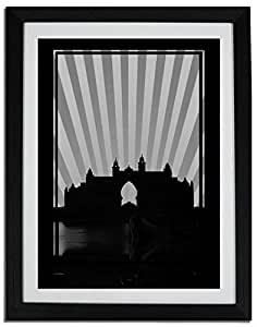 Atlantis - Black And White No Text F06-m (a5) - Framed