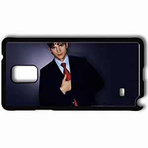Personalized Samsung Note 4 Cell phone Case/Cover Skin Ashton Kutcher Brunette Jacket Shirt Look Black by supermalls