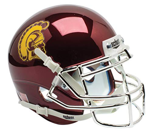 Usc Mini Helmet - USC Trojans Collectible Alternate Chrome Mini Helmet
