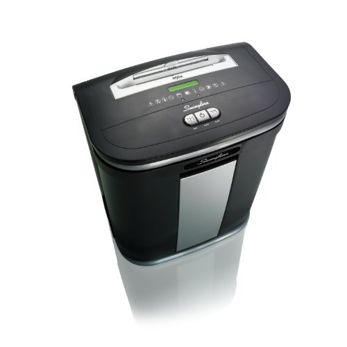 Swingline Paper Shredder, Jam Free, 12 Sheet Capacity, Micro-Cut, 1-5 Users, SM12-08 (1758496) by Swingline