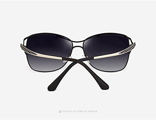 Sol Sol Gafas Gafas de de de Easy Gafas Sol de Grandes de Gafas Shopping Moda HD la Sol Casual Mujeres de al polarizadas de Conducción para Red Black Vendimia de Color UV400 Go Viaje Aire Libre wzSpqEzF