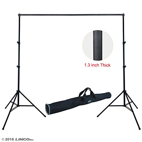 Linco Lincostore Photo Backdrop Stand 9x10 ft Heavy Duty Photography Background Support System Kit 4164 from Linco