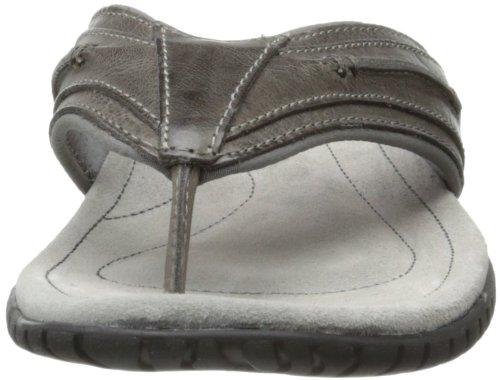 Sebago Mens Becket Thong Sandal Dark Grey