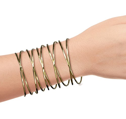 SPUNKYsoul New! Cuff Metal XXX X Bracelet for Women Collection (Hammered Metal Bracelet)