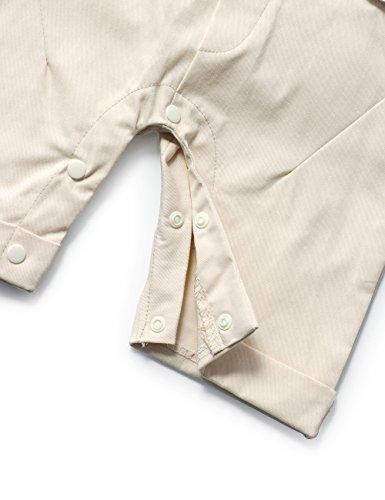 795d50d02 HeMa Island HMD Baby Boy Gentleman Blue Stripe Shirt Bowtie Tuxedo Onesie  Jumpsuit Overall Romper(