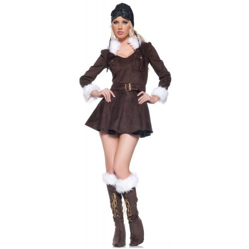 Underwraps Red Baroness Pilot Adult Costume - Small
