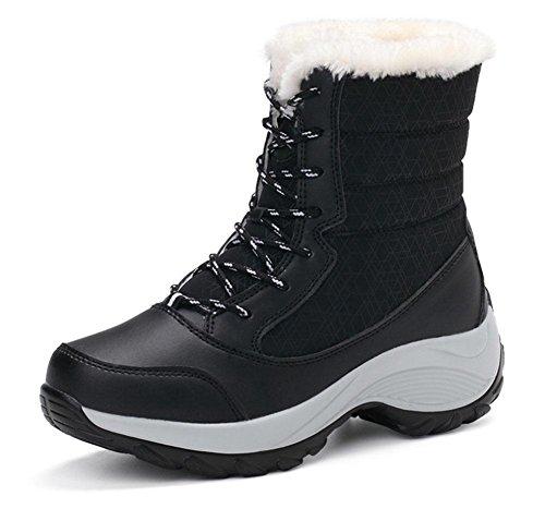pour pour velours bottes plus Chaussures KUKI femmes pour femmes aider dentelle haut imperm sauvage zw5y6f