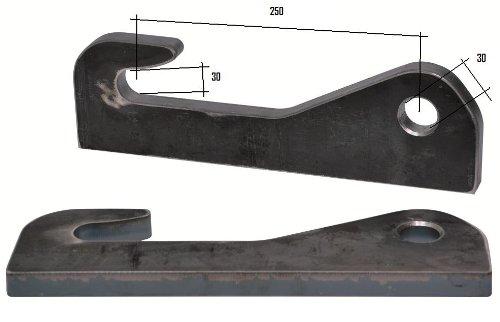 Koppelhaken fü r Kramer Radlader 30x30x250m, Anbaukonsolen, Lader Joma Tech GmbH