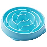 Cheap Dog Bowl Slow Eating Feeder Slow Fun Feeder with a Non-Slip Mat, Anti – Chocking, Puzzle Design, Soft Bowl Prevent Fat from Eating Too Fast for Small to Large Dogs 2 Sizes & 4 Colors