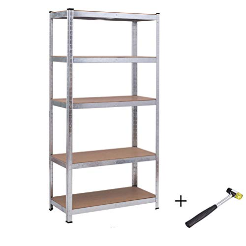 CLIENSY Heavy Duty 5-Level Storage Shelf, Adjustable Garage Storage Racks for Commercial Office and Home Use, 36