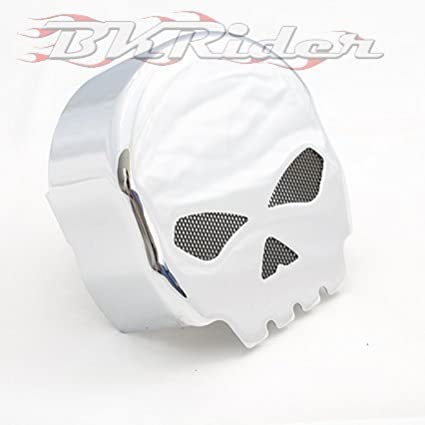 Willy G Style Skull Chrome Horn Cover For Harley-Davidson Generic C01000532