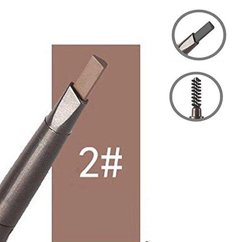 Trillycoler Automatisch Wasserdicht Gedrehte Make Up Stift Eyeline Augenbrauenstift + Pinsel (Kaffee 2#)