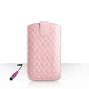 Yousave Accessories–Funda para LG G4Beat Rosa Claro PU piel diamante bolsa móvil Cordón automática con mini lápiz capacitivo