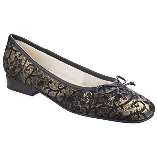 Riva Nicotta Gold Shoes Court Womens Ballet Ladies PP7qfTSw