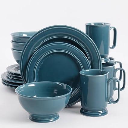 Aqua Blue Admiware 16 Piece Dinnerware Set & Amazon.com | Aqua Blue Admiware 16 Piece Dinnerware Set: Dinnerware Sets