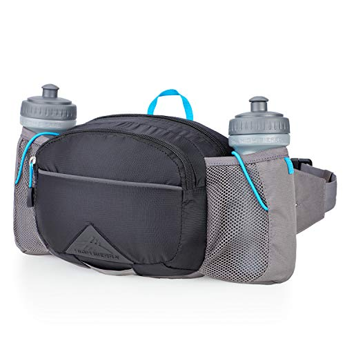 704e015b96 High Sierra HydraHike 3L Hydration Pack w/Bottles, Black/Slate/Pool