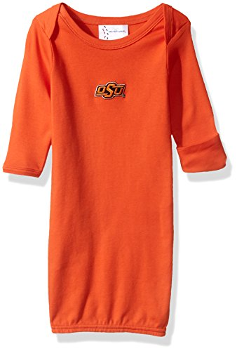 Two Feet Ahead NCAA Oklahoma State Cowboys Children Unisex Layette Gown,One Size,Orange