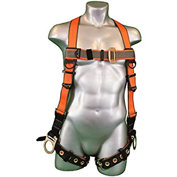 Falltech 7016 Contractor Full Body Harness With 1 D Ring