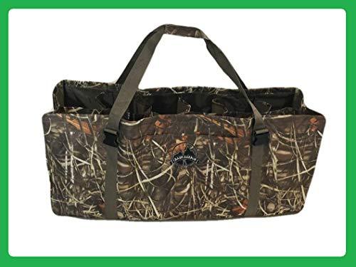 - Crash Harbor Outdoors Duck Decoy Bag 12 Slot w/Large Front Pocket, Adjustable Shoulder Strap, Padded, Floating, Excellent Protection for Your Decoys