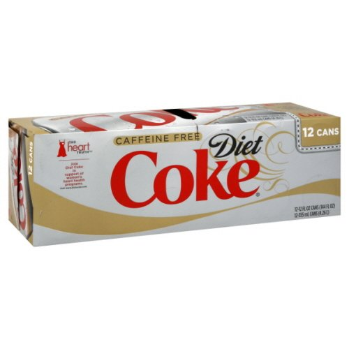 Coca Cola Coke Diet Cola, Caffeine Free 12 Ct 12 Fl Oz Ca...
