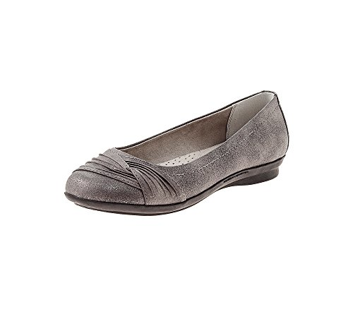 Acantilados De White Mountain Hilt Casual Flats Pewter 7 W
