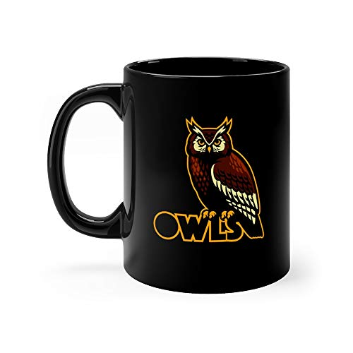Owl Bird Mascot Savage Jungle Tea Mugs Ceramic Cups 11 Oz