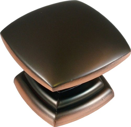 Hickory Hardware P2163-OBH 1-1/2-Inch Square Euro-Contemporary Knob, Oil-Rubbed Bronze Highlighted