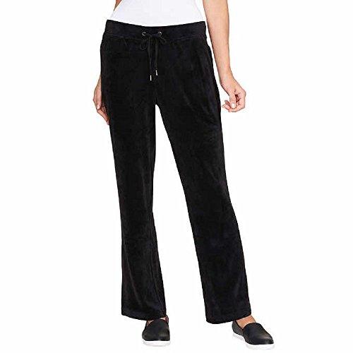 GLORIA VANDERBILT Ladies Jemma Ultra Soft Velour Pants Black XL