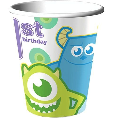 Disney Monsters, Inc. 1st Birthday 9oz. Party Cups 8 Pack -