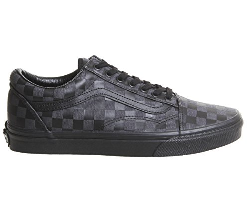 Skool Unisex Adulto Scacchi Vans Suede A Sneaker Classic Old Canvas Nero SgqCwUT