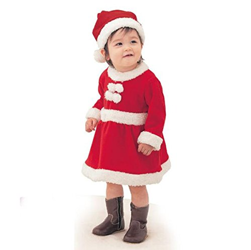 cc8dd39ce50a1 クリスマス サンタ カバーオール 帽子付き 子供 サンタクロース サンタ コスプレ赤ちゃん キッズ 衣装 ベビー服 男の子 女の子 仮装