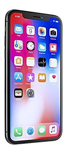 Apple iPhone X, AT&T Locked, 256GB - Space Gray (Renewed)