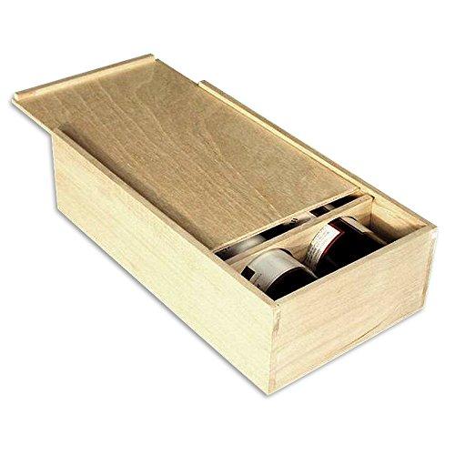 Wood Box 2-Bottle #16410