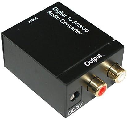 Desconocido - Adaptador de sonido (óptico/coaxial a RCA), color negro: Amazon.es: Electrónica