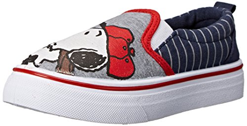 Amazon.com   Peanuts Snoopy Canvas Slip-On Shoe(Toddler)   Loafers