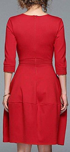Jaycargogo Imprimé Coeur Des Femmes Manches 3/4 Mini-robe Tunique Robe Noire Arrive En Tête