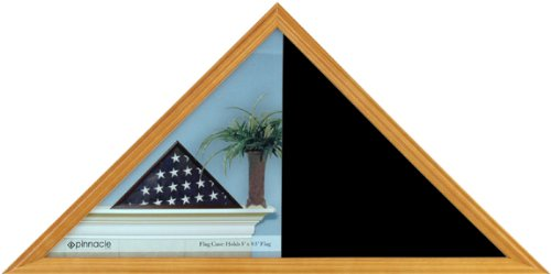 Pinnacle Flag Display Case, Light Honey - Honey Display