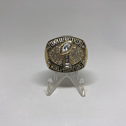(2002-03 Dexter Jackson MVP Tampa Bay Buccaneers High Quality Replica 2003 Super Bowl XXXVII Championship Ring-Gold Color Size 10.5 US SHIPPING)
