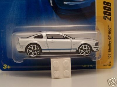 Ford Shelby Gt500 2007 (Hot Wheels 2008 New Models 2007 Ford Mustang Shelby GT500 GT-500 White)