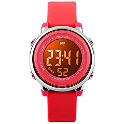 Kids Watch Sport Multi Function 50M Waterproof LED Alarm Stopwatch Digital Child Wristwatch for Boy Girl Red
