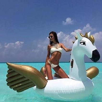 beachtoy flotador gigante hinchable unicornio volador 2 - 3 ...