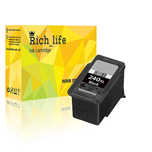 Rich_life Remanufactured Ink Cartridge Replacement for Canon PG 240XL Inkjet Cartridges Compatible Canon Printer PIXMA MG MX 1 Pack (1 Black)