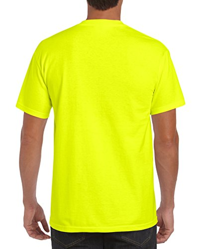 Buy cotton neon yellow t shirt mens