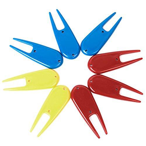 Tinksky 8pcsプラスチックゴルフアクセサリーDivot Tool (ランダムカラー) Best修理キットGolferアクセサリー   B01IQMS2ZI