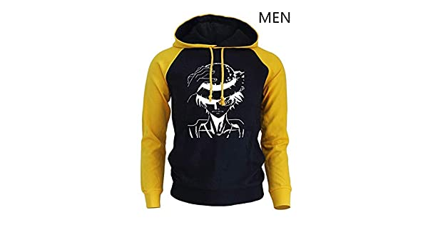 Amazon.com: FLAMINGO_STORE one Piece Hoodie one Piece Anime Cartoon Mens Sweatshirt Hoodies Pullover Yellow Black: Clothing