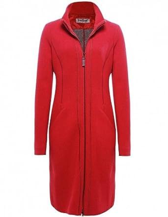 Rot woll mantel