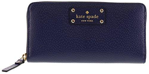 (Kate Spade New York Wellesley Neda Zip-Around Wallet (French Navy))